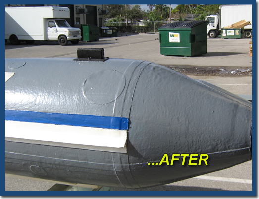 inland marine inflatable boat repair after