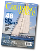 Cruising World Magazine Cover featuring inflatable boat repair products